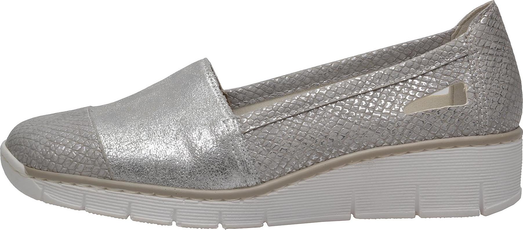 Dámská obuv RIEKER 53758 90 SILBER PLATIN F S 8 – Rieker Antistress 5558016ed1
